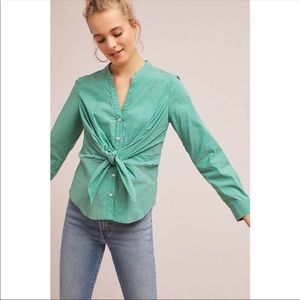 Anthropologie Maeve Katherine Knotted Blouse